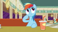 Rainbow thinks for a moment S6E9