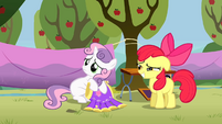 Apple Bloom teasing Sweetie Belle S1E18