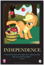 "Applejack ""Independence"" poster from ComicCon 2012"