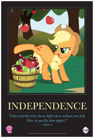 "File:Applejack ""Independence"" poster from ComicCon 2012.jpg"