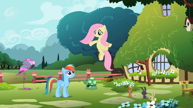 File:Fluttershy 'Somewhere in here...' S2E07.png