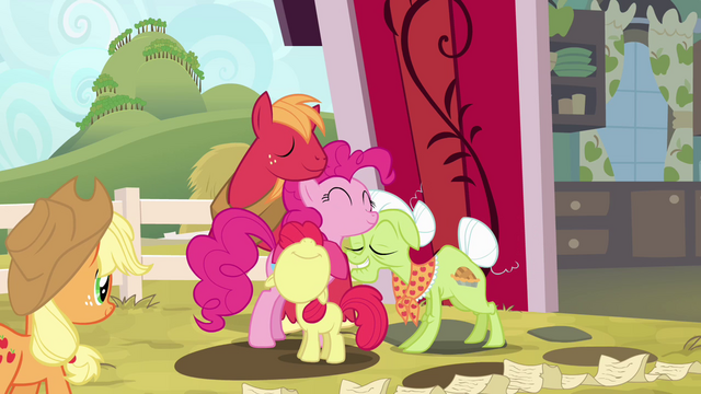 File:Pinkie Pie hugging Apples S4E09.png