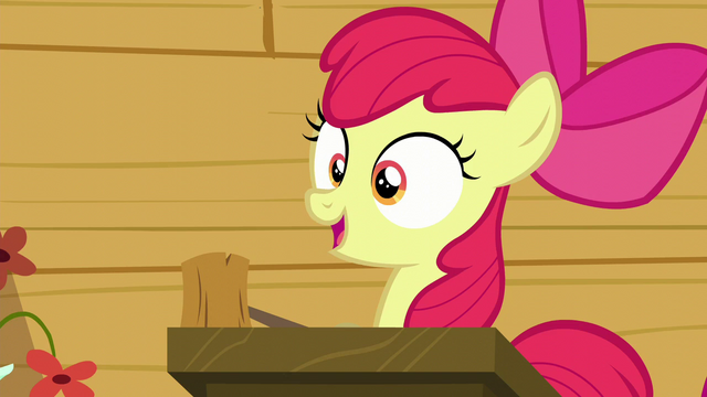 "File:Apple Bloom ""The first post-cutie mark meetin'"" S6E4.png"