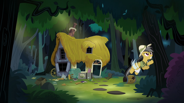 File:Daring Do flying out of her house S4E04.png