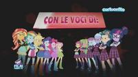 Friendship Games starring credit - Italian