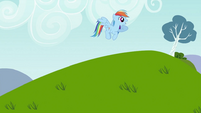 Rainbow Dash calling Tank S2E07