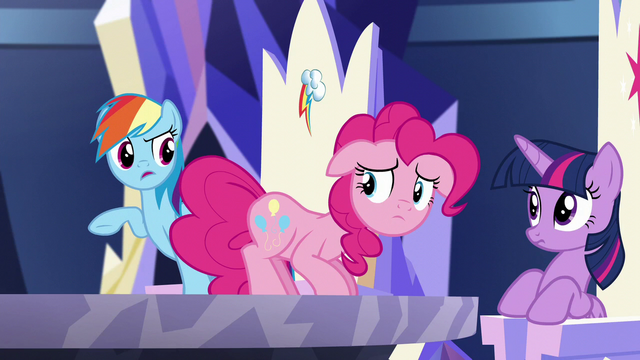 "File:Rainbow asks Pinkie ""how did you know all that?"" S5E19.png"
