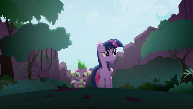 File:Twilight and Spike walking through the Everfree Forest S4E03.png