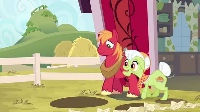 File:Big McIntosh and Granny Smith together S4E09.png