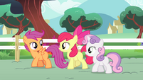 Cutie Mark Crusaders discuss the routine S4E05