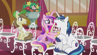 Princess Cadance comforting Shining Armor S5E9