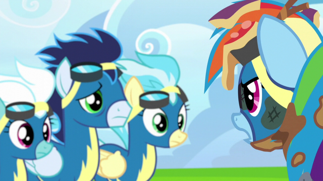"File:Rainbow Dash ""buzzed me on purpose"" S6E7.png"