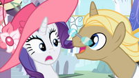 Rarity interrupted S2E9