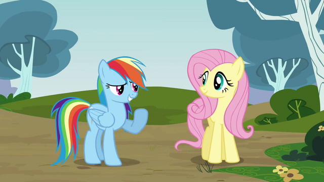 File:Rainbow greets Pinkie S3E3.png
