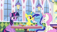 Twilight and old friends smiling S5E12