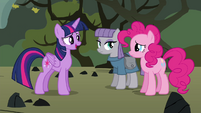 Twilight apologizing to Pinkie S4E18