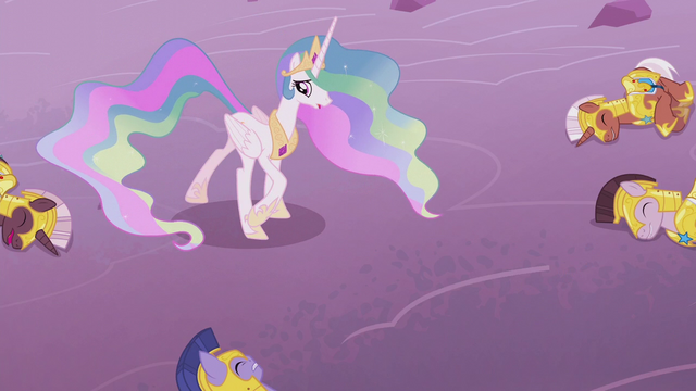 File:Princess Celestia looking at her fallen soldiers S5E25.png