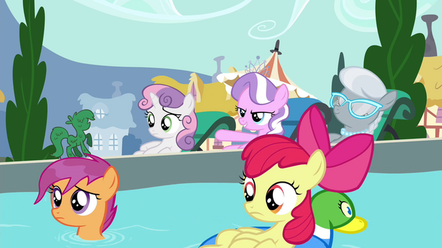 "File:Diamond Tiara ""all the ponies we're keeping out"" S4E15.png"