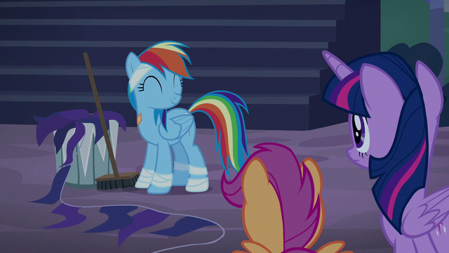 File:Rainbow Dash happy about her punishment S6E7.png
