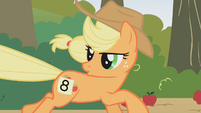 Applejack talks to Rainbow Dash S1E13