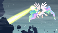 Celestia clearing the storm clouds S6E2.png