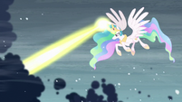 Celestia clearing the storm clouds S6E2