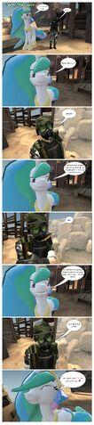 File:FANMADE Gmod Comic Celestia plays silly joke on Adrian Shephard.jpg