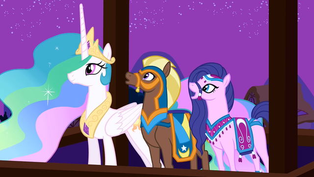 File:Princess Celestia and her guests enjoy Twilight's performance S3E05.png