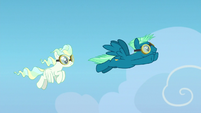Sky and Vapor grown up and flying together S6E24