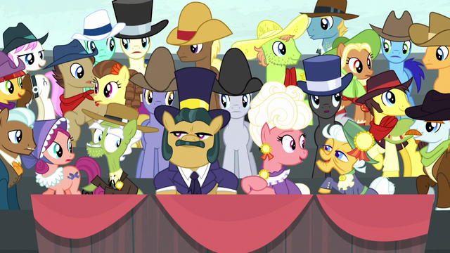 File:Spectator ponies consider Apple Bloom's words S5E6.png