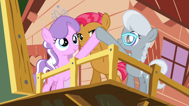 File:Babs, Diamond Tiara and Silver Spoon 'Bump, bump' S3E04.png