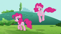Pinkie Pie clone looking around S3E3