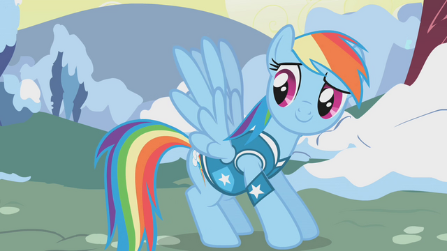 File:Rainbow Dash briefly flaps her wings S1E11.png