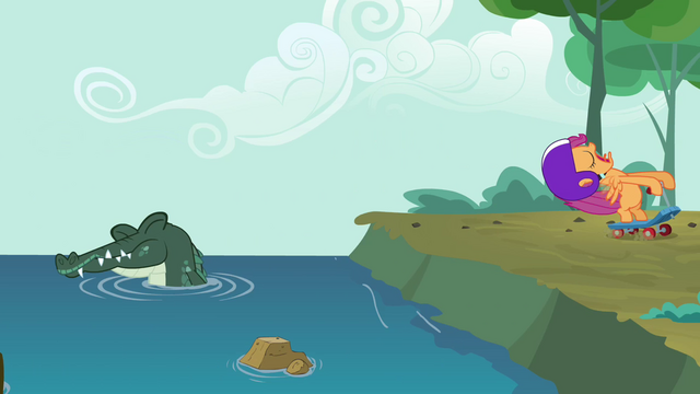 File:Scootaloo & Alligator S3E6.png