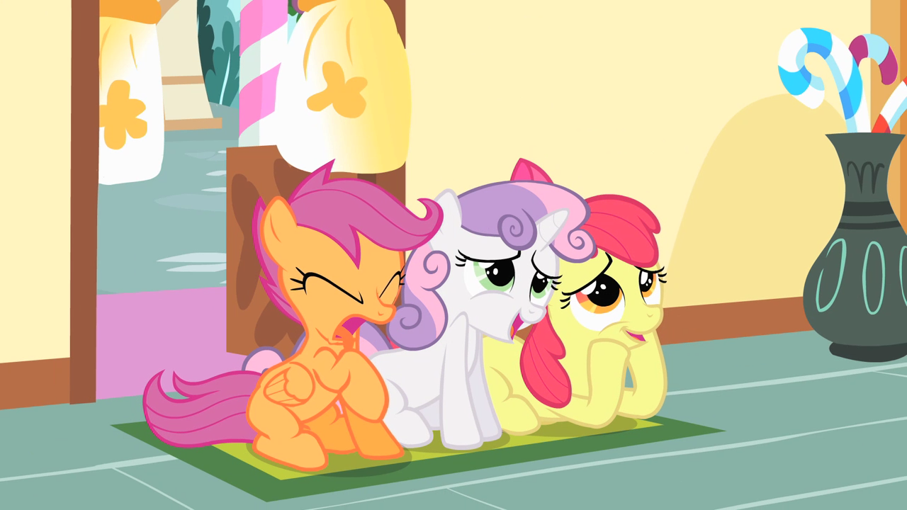 File:Cutie Mark Crusaders watching Main 6 hug S01E23.png