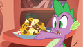 Spike looking at his freshly baked cookies S1E24.png