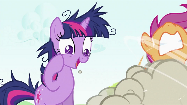 File:Twilight Sparkle looking at CMC fighting S2E03.png