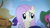 Fluttershy sees her friends walking around her S4E07