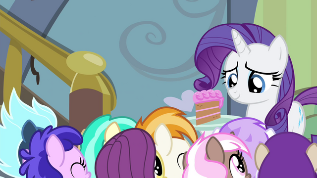 File:Party foals cheering for Rarity S4E19.png