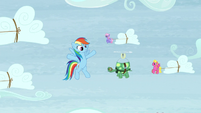 "Rainbow ""for our extreme sledding!"" S5E5"