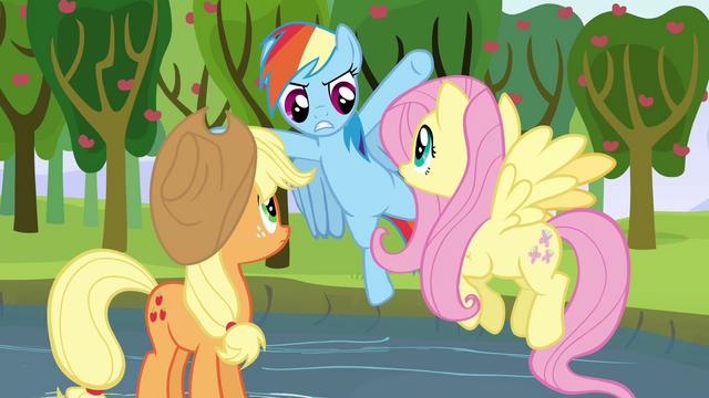 "File:Rainbow Dash ""hey, slackers!"" S03E10.png"