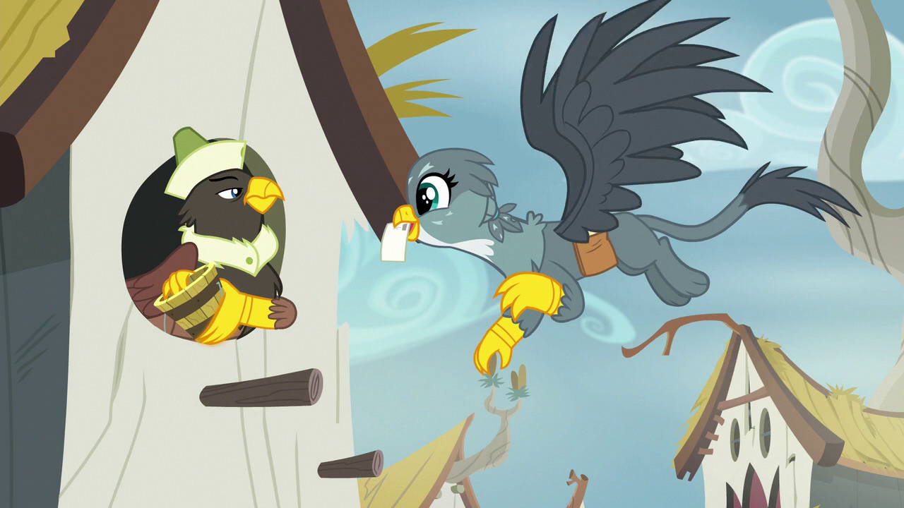 image gabby delivering mail to a griffon s6e19png my