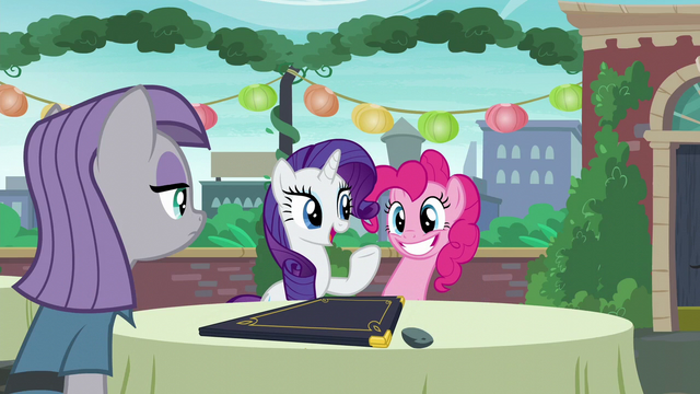 """File:Rarity acting """"Oh, why, thank you for the kind assistance"""" S6E3.png"""