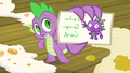 Spike presenting a note S3E09.png