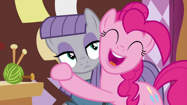 File:Pinkie Pie hugging Maud S4E18.png