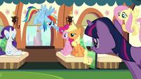 Rainbow Dash's encouragement S3E12