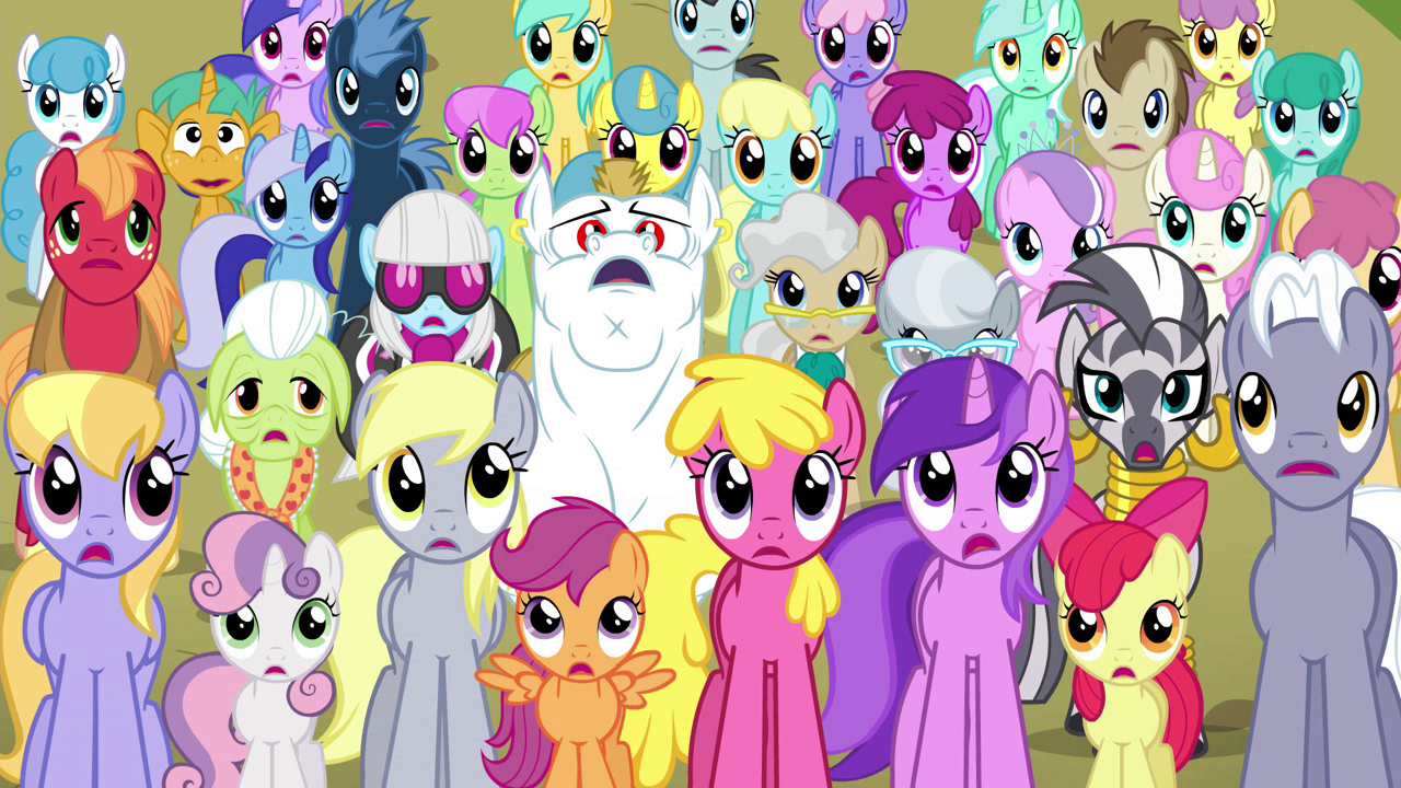Image  Ponyville Residents S4E26png  My Little Pony Friendship is Magic Wi # Sunshower Mia_061752