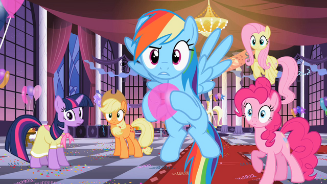 File:The group staring at Rarity S2E09.png