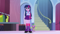Twilight admiring her friends' new fashion EG