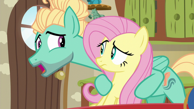 File:Fluttershy and Zephyr Breeze, brother and sister S6E11.png